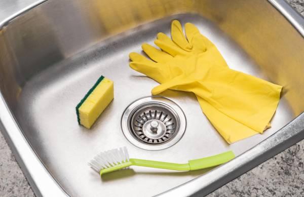 تمیز-کردن-سینک-آشپزخانه